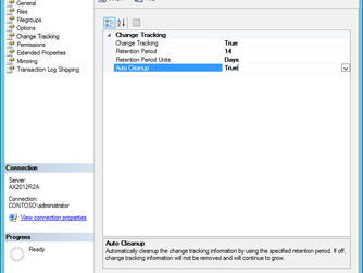 Dynamics AX change tracking