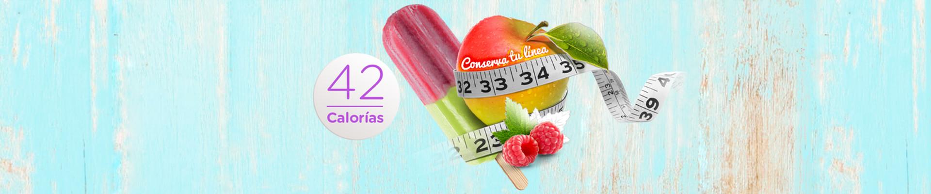 Paletas de frutas bajas en calorías