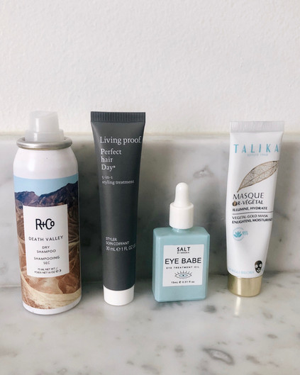 TRAVEL BAG BEAUTY FAVES