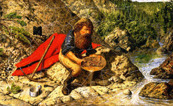 William Hind, Prospecting, oil on canvas,1862