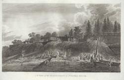Engraving after James Weber, Habitations in Nootka Sound, published 1784
