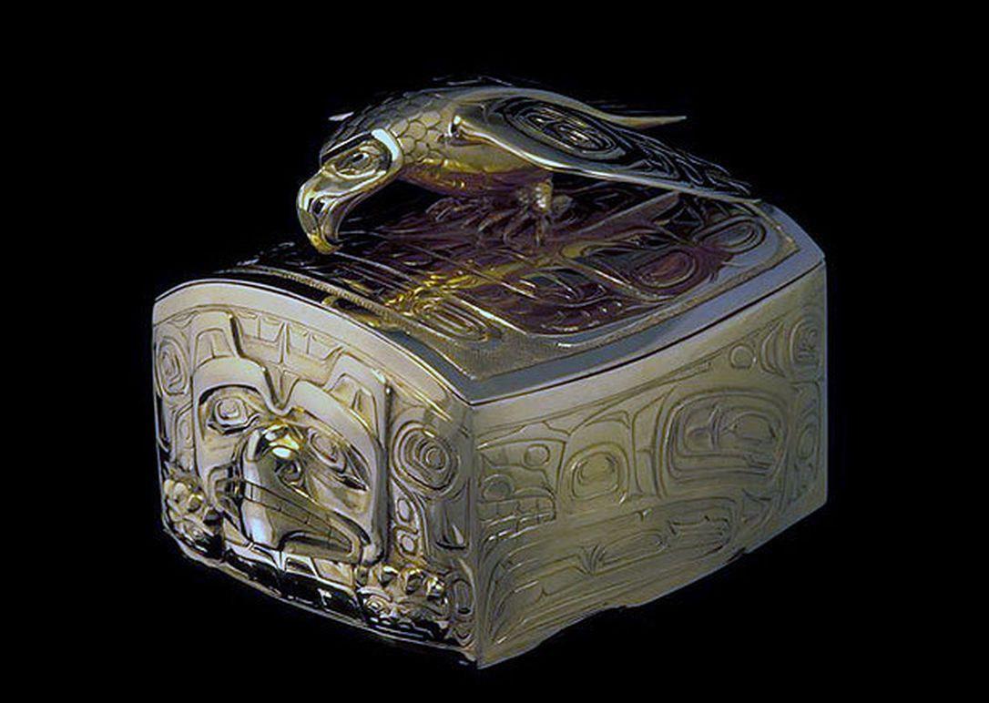 Bill Reid, Gold Box with Eagle