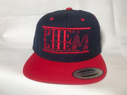 PHE Snap Back Hat- Red Logo