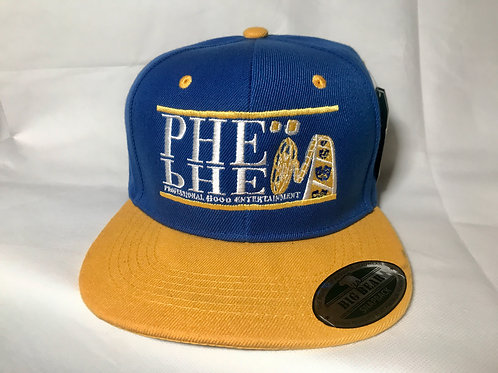 PHE Snap Back Hat- Yellow/White Logo