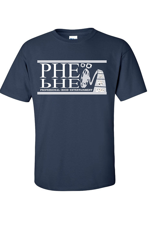 PHE NFL Color Scheme Men's Crew Neck T-shirt- Silver/White Logo