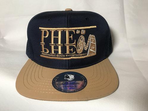 PHE Snap Back Mesh Style Hat- Tan Logo