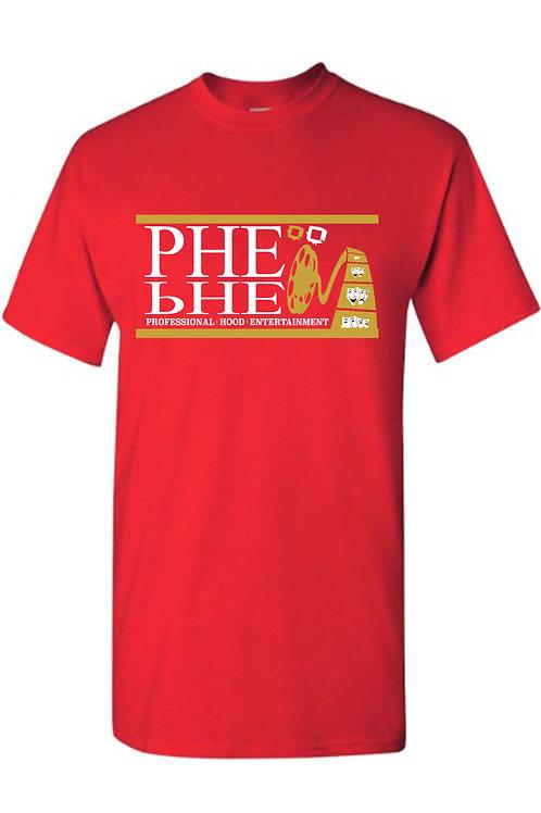 PHE NFL Color Scheme Men's Crew Neck T-shirt Gold/White Logo