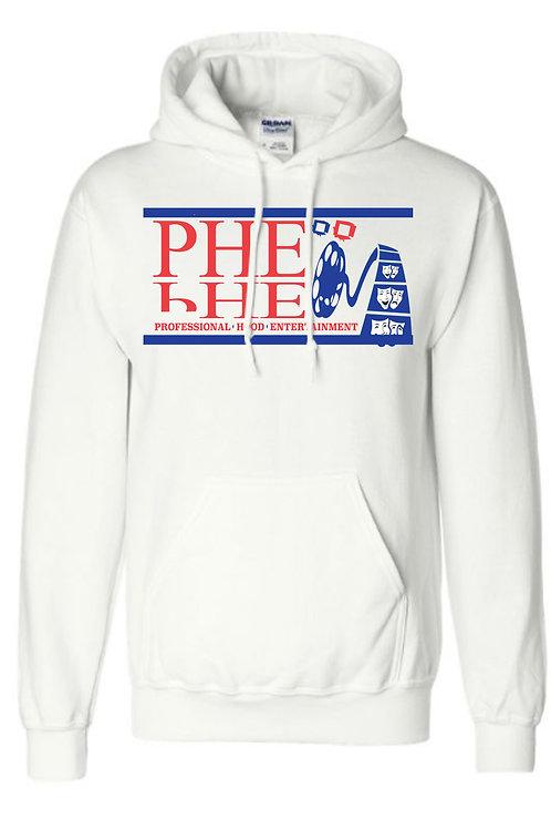 PHE Unisex Hoodie- Blue/Red Logo