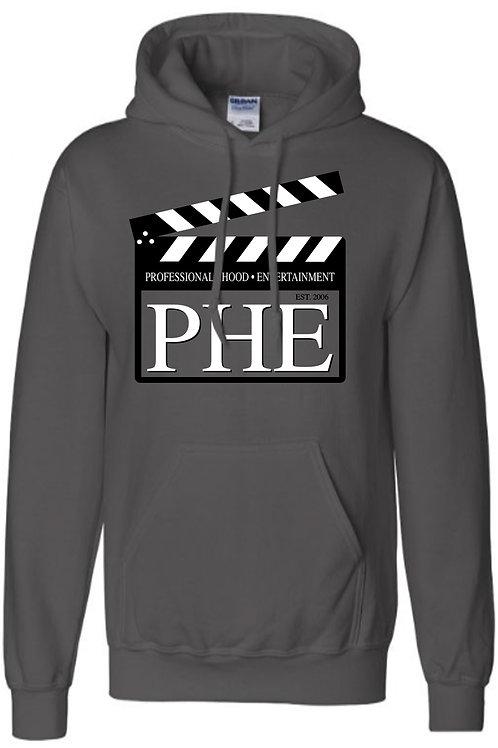 PHE Unisex Hoodie Original- Black/White Logo