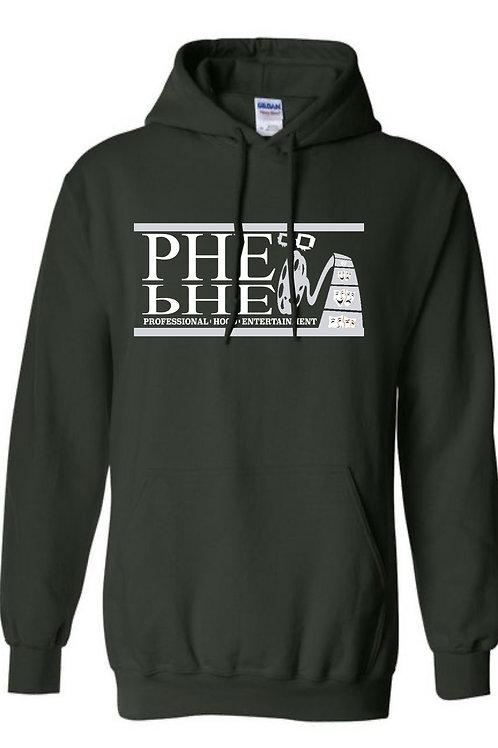 PHE NFL Theme Unisex Hoodie- Silver/White Logo