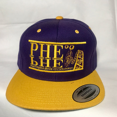 PHE Snap Back Hat- Yellow Logo
