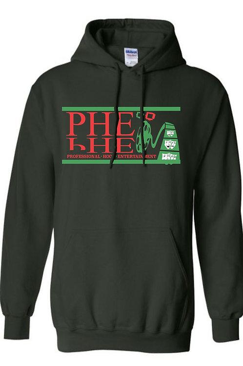 PHE Unisex Hoodie- Red/Black/Green Logo