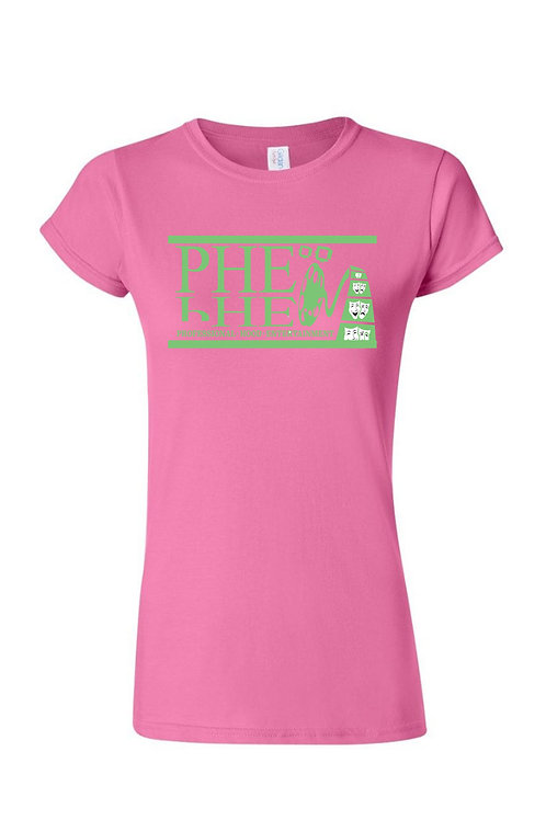 PHE Women's Crew Neck T-shirt- Forest Green Logo