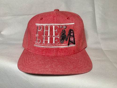 PHE Snap Back Hat- White/Logo
