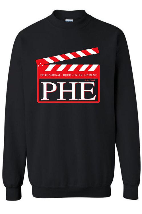 PHE Unisex Sweat Shirts Est. 2006 Style- Red/White Logo