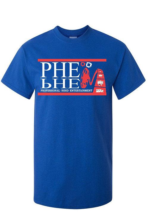 PHE NBA,NFL,MLB, Christmas Color Scheme Men's Crew Neck T-shirt- Red/White Logo