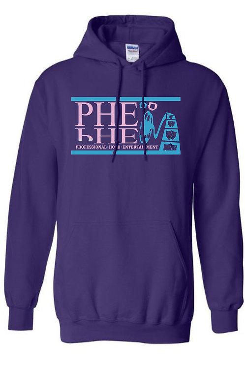 PHE Unisex Hoodie's Powder Blue-Pink