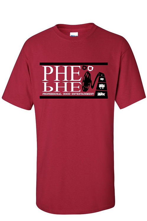 PHE NBA, NFL Color Scheme Men's Crew Neck T-shirt- Black/White Logo