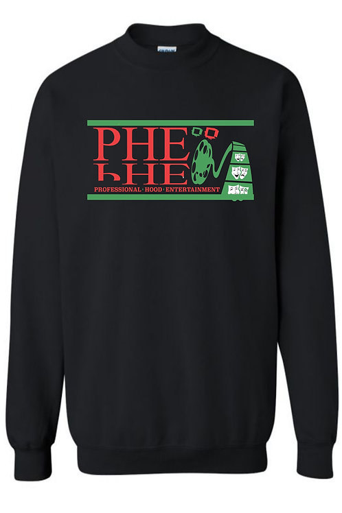 PHE Unisex Sweat Shirt- Red/Black/Green Logo