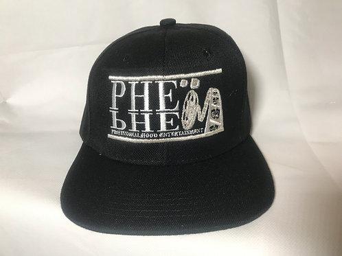 PHE Snap Back Hat- Silver Logo