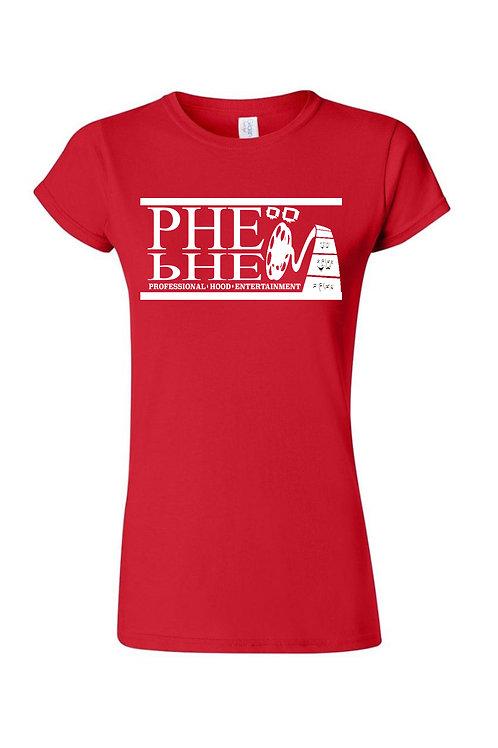 PHE Women's Crew Neck T-shirt- White Logo