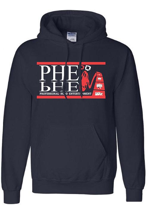 PHE NFL/MLB Unisex Hoodie- Red/White Logo