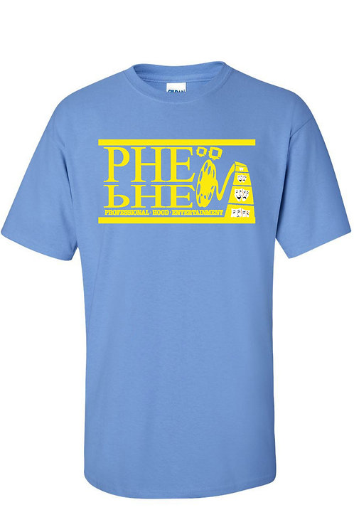 PHE Men's Crew Neck T-shirt- Yellow Logo