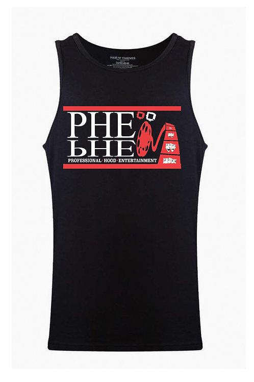 PHE Unisex Tank Top- Red/White Logo