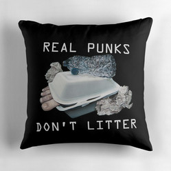 """Dystopian Detritals"" Throw Pillow"