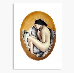 """Hatched"" Canvas Print"