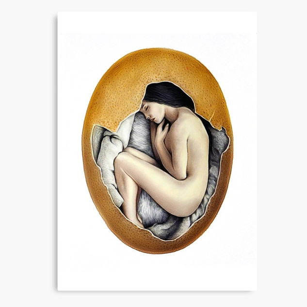 """Hatched"" Canvas Print"