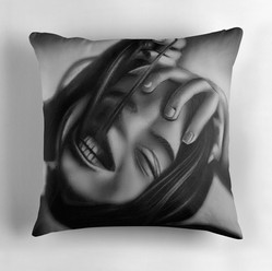 """""""Death of a Smile"""" Throw Pillow"""