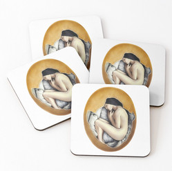"""""""Hatched"""" Coasters"""