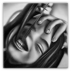 """Death of a Smile"" Metal Magnet"