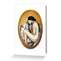 """""""Hatched"""" Post Card"""