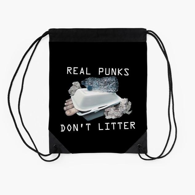 """""""Dystopian Detritals"""" Drawstring Bag"""