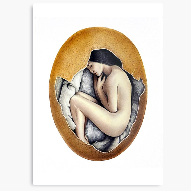 """Hatched"" Metal Print"