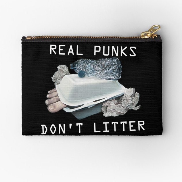 """""""Dystopian Detritals"""" Pouch Bag"""
