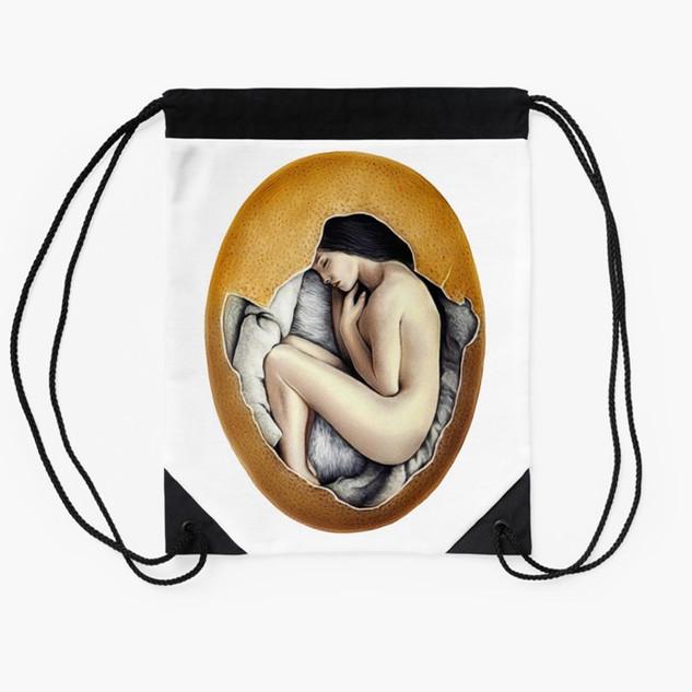 """""""Hatched"""" Drawstring Bag"""