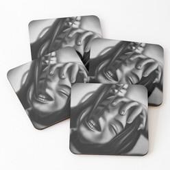 """Death of a Smile"" Coasters"