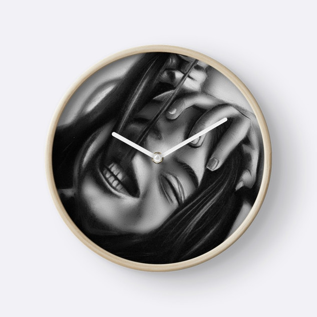 """""""Death of a Smile"""" Clock"""