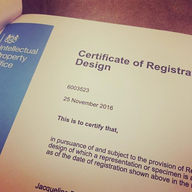 bathblind design registration certificate