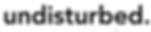 Undisturbed logo