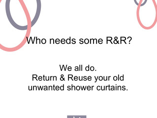 I'm appealing for your old shower curtains