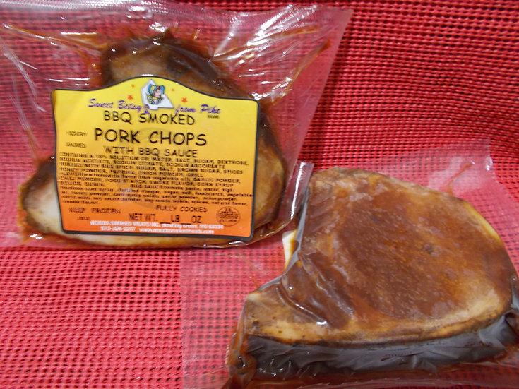 Hickory Smoked BBQ Pork Chops