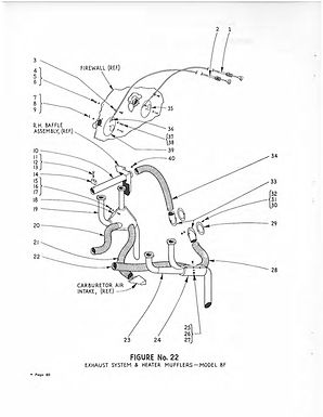 Exhuast System & Heater Mufflers Model 8F Figure No 22