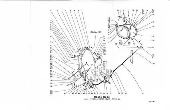 Fuel System & Motor Mount 8A Figure No 23