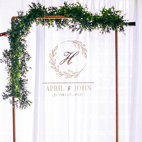 Layered Acrylic Wedding Sign