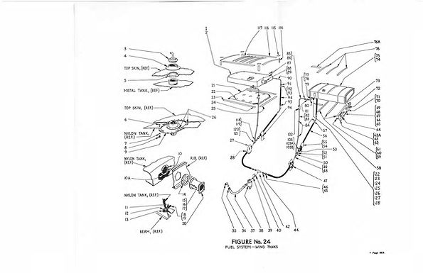 Fuel System Wing Tanks 8A-8E Figure No 24