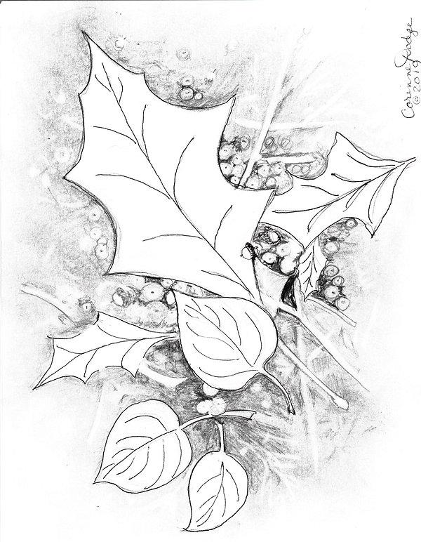 Corinne Dodge Gold Leaf Coloring Page.jp